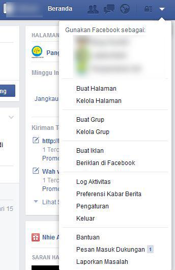 pesan masuk dukungan facebook
