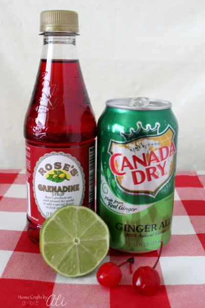 classic fizzy shirley temple drink with added lime flavor