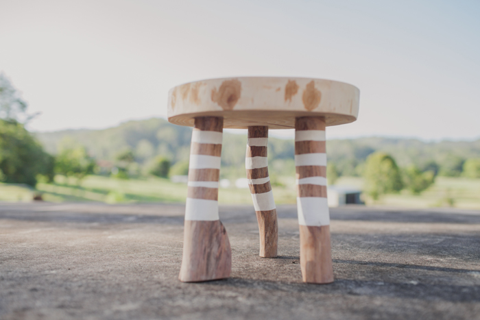 Australian Eco Wooden Stool