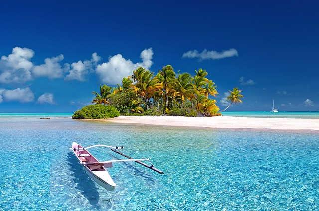 Pantai di Samudera pasifik