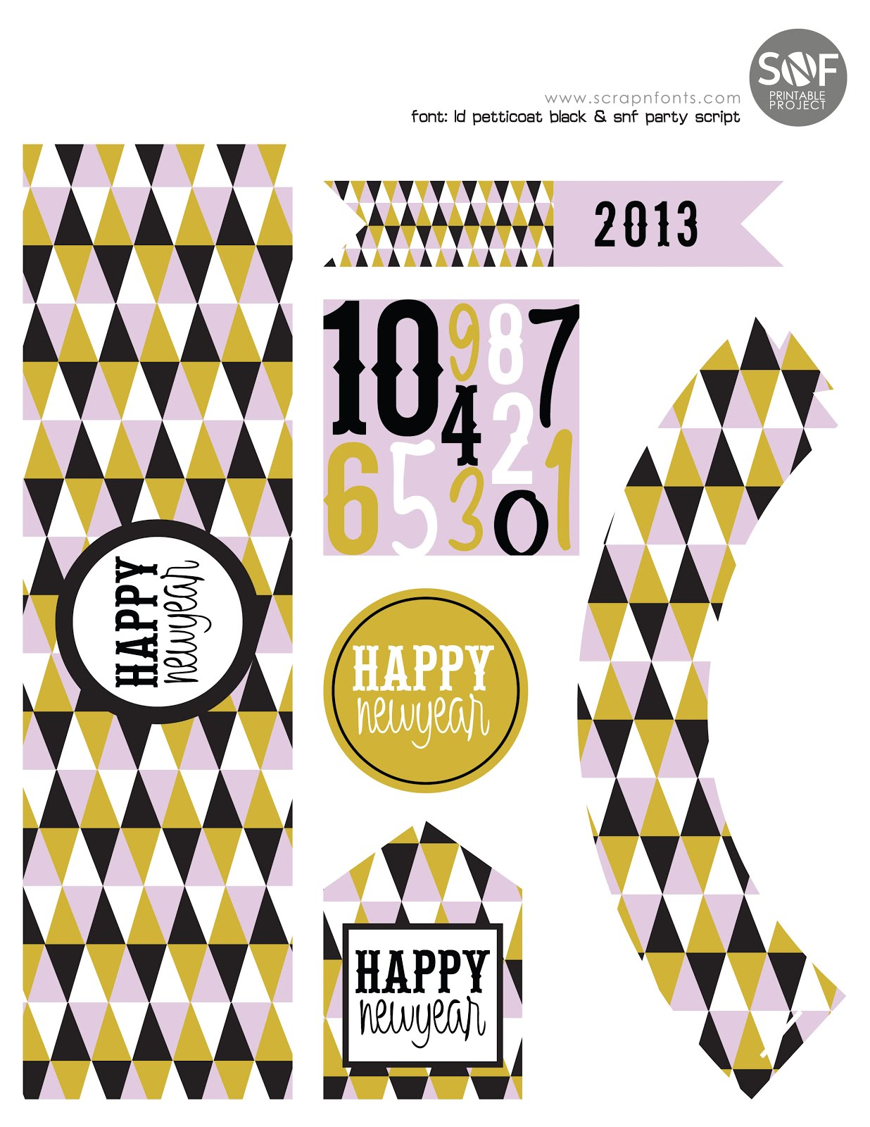 Fontaholic: FREEBIE FRIDAY: New Years Party Printable