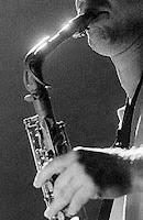 Fotografía del músico de Jazz John Zorn. Imagen de wikipedia.https://commons.wikimedia.org/wiki/File:Zornj.jpg