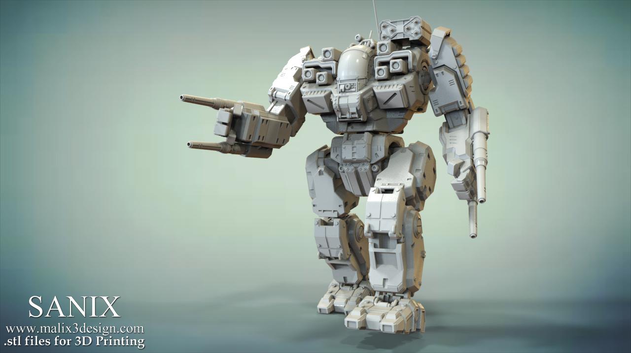 Mech Warrior - BattleMaster 3D Printable Model
