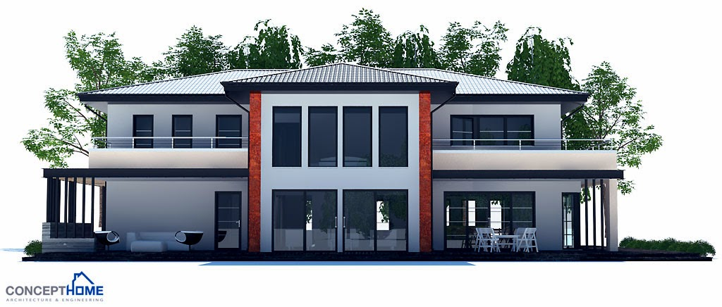 Projetos de casas projeto de casa moderna ch204 for Casa moderna kw