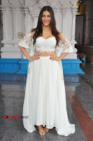 Telugu Actress Amyra Dastur Stills in White Skirt and Blouse at Anandi Indira Production LLP Production no 1 Opening  0088.JPG
