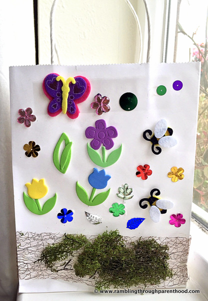 A Spring Garden in bloom on our gift-bag