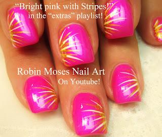 "robin moses nail art striped chevron tipped nail art ""how"