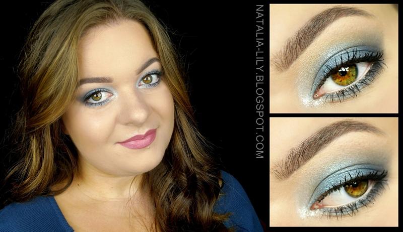Natalia Lily Beauty Blog Makijaż Szaro Niebieski Rozświetlający