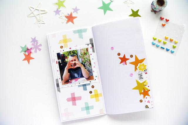 Traveler's Notebook - Inspiration d'été - Scrapbooking