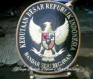 Kerajinan Logo Kuningan Dan Tembaga