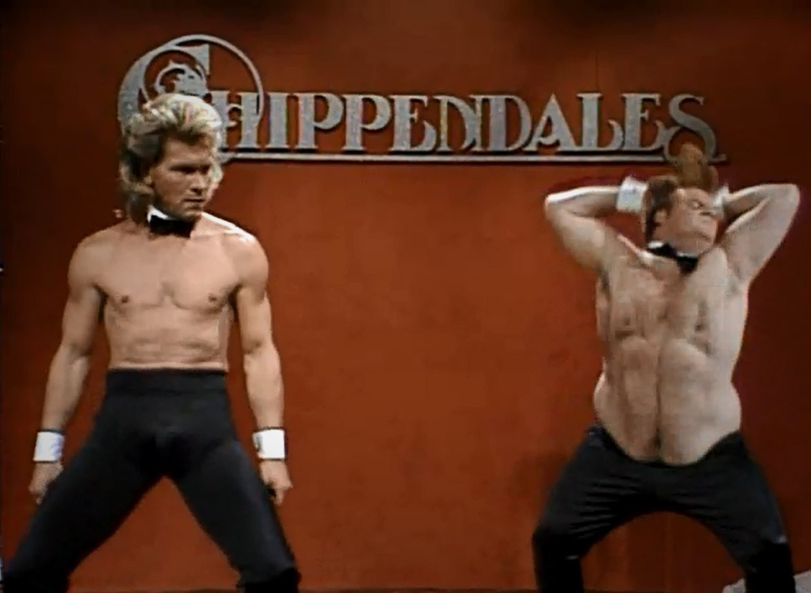 Chippendales Saturday Night Live Skit YouTube - chris farley chippendale