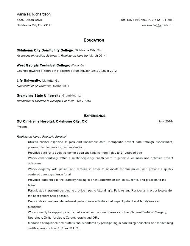 Er Nursing Resume Rn Objective