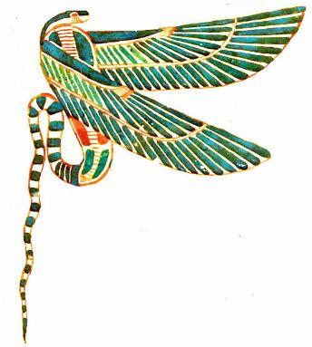 Serpiente alada egipcia