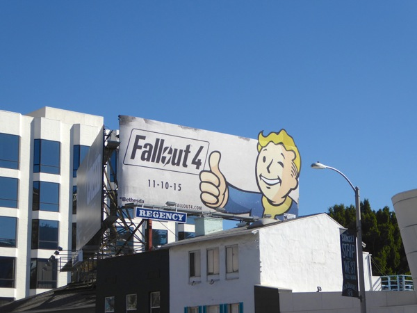 Fallout 4 video game billboard