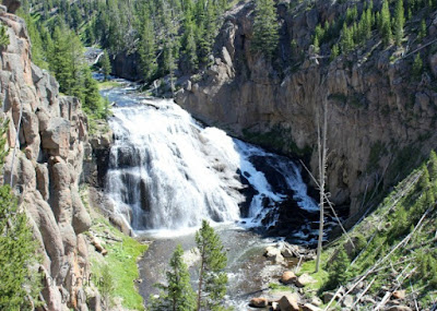 Don't miss Gibbon Falls at Yellowstone