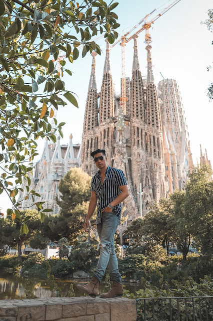 Outfit at Sagrada Familia - Asian Model and Blogger