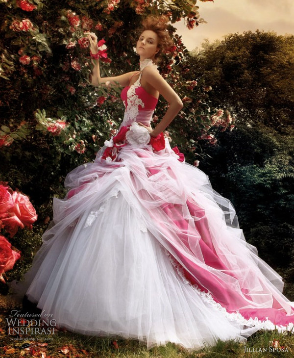 Pink Color Wedding Gown: Updatefashion: New Beautiful Pink Colour Wedding Gowns