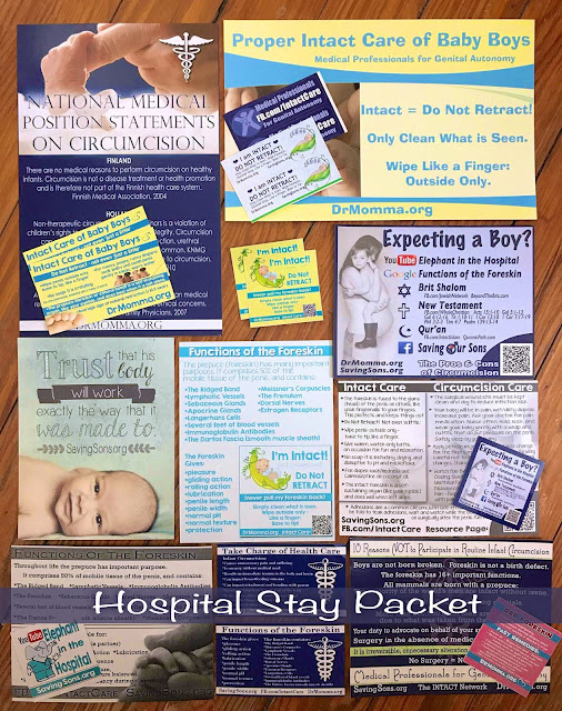 Intact care hospital or daycare pack