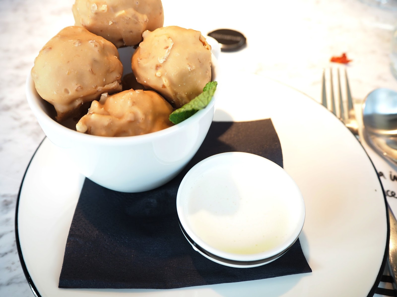 Pizza Express Salted Caramel Profiteroles
