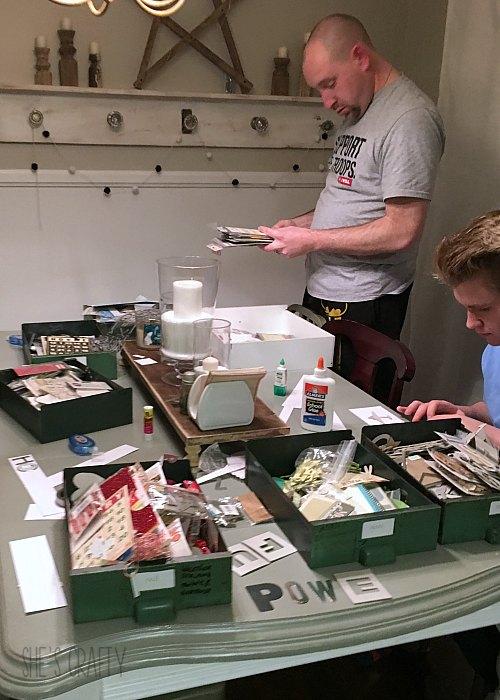 scrapbook supplies, craft supplies, letters