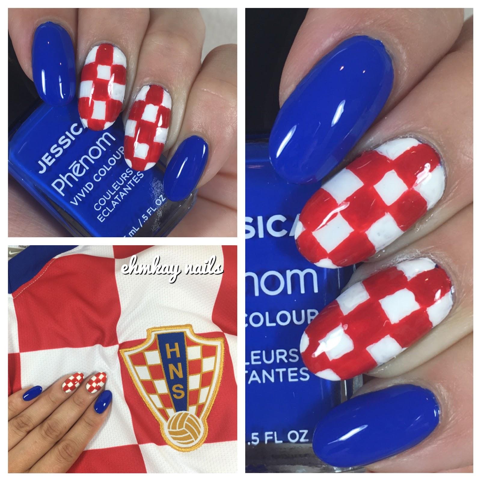 ehmkay nails: Croatia UEFA 2016 Nail Art