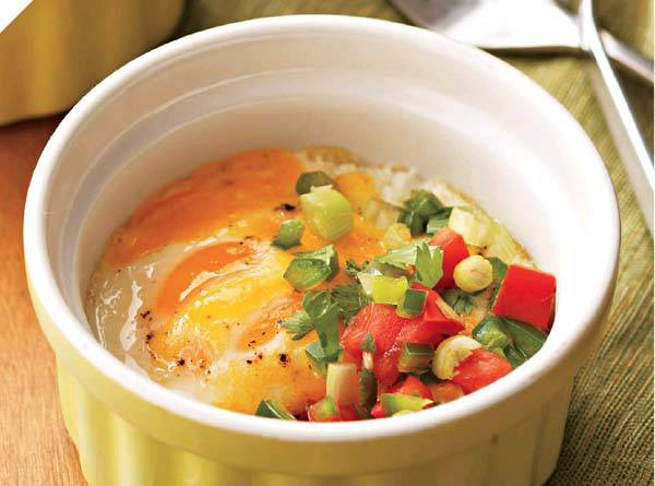 Baked Eggs with Tomato Topper Recipe