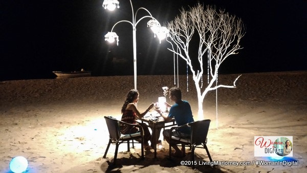 Moonlight Dinner by the beach of Club Paradise Palawan