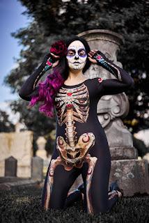 Sugar-Skull Womens Morphsuit
