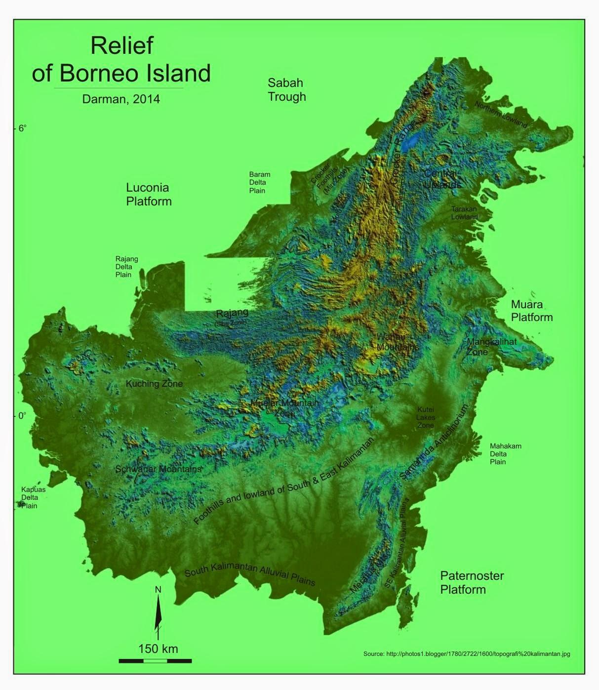 Borneo Island: Chapter 1. Physiography Of Indonesia: 2.SUNDALAND