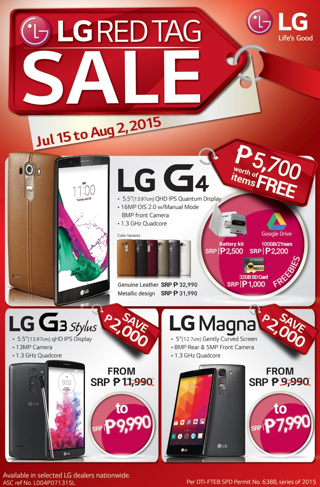 LG Red Tag Sale Poster