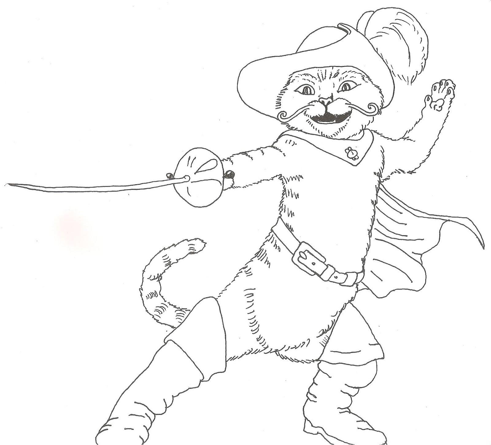Dibujos Para Colorear El Gato Con Botas Dibujos Para Colorear De El
