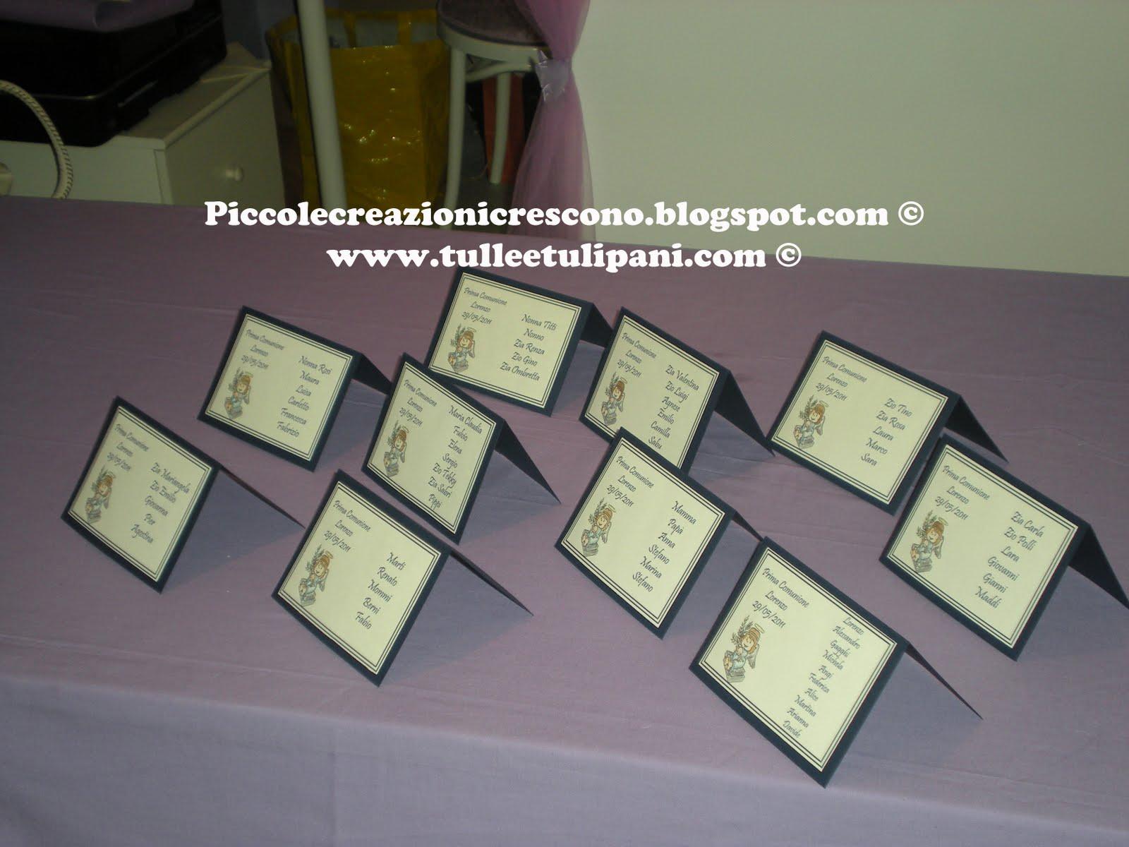 Conosciuto Piccole Creazioni Crescono: 29 Maggio 2011: Segnatavoli per Prima  OY72