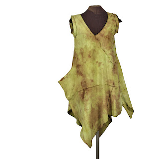 cotton jersey asymmetric lagenlook earthy dress from secretl lentil