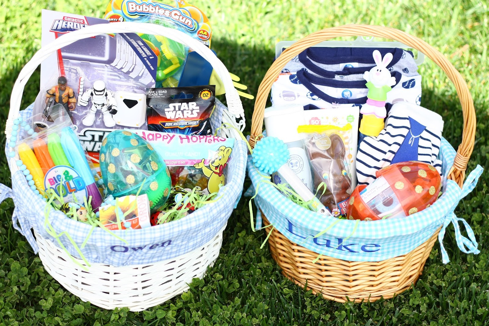 Meet the sullivans owen and lukes easter baskets 2016 i had a lot of fun filling the boys easter baskets this year i cant wait for easter morning when they get to open them negle Image collections