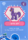 My Little Pony Wave 4 Royal Riff Blind Bag Card
