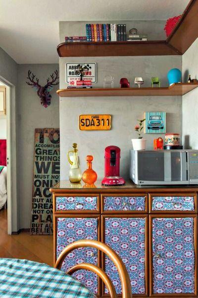 renovar-reformar uma comoda-movel-aparador-buffet com contact ou adesivo