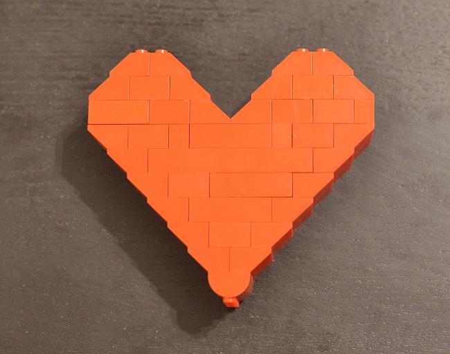 Srdce zo stavebnice Lego
