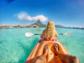 Kayaking in Bora Bora