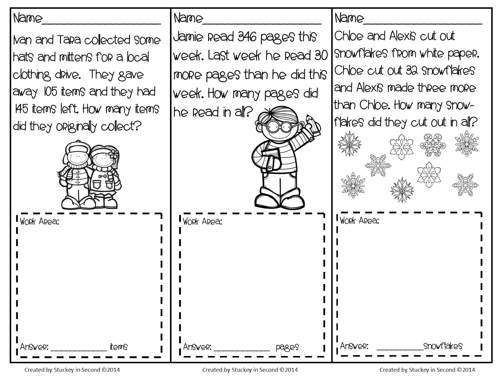 Problem Solving Addition Worksheets For Grade 3