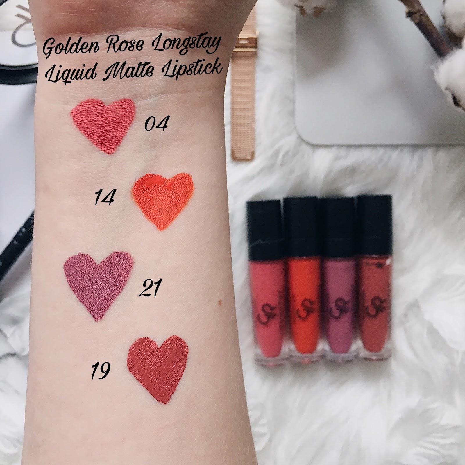 Golden Rose Liquid Matte Lipstick swatch