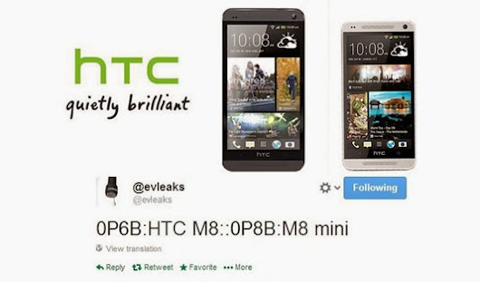 Blogging Tips: Evleaks: HTC M8 Mini Phone Specifications