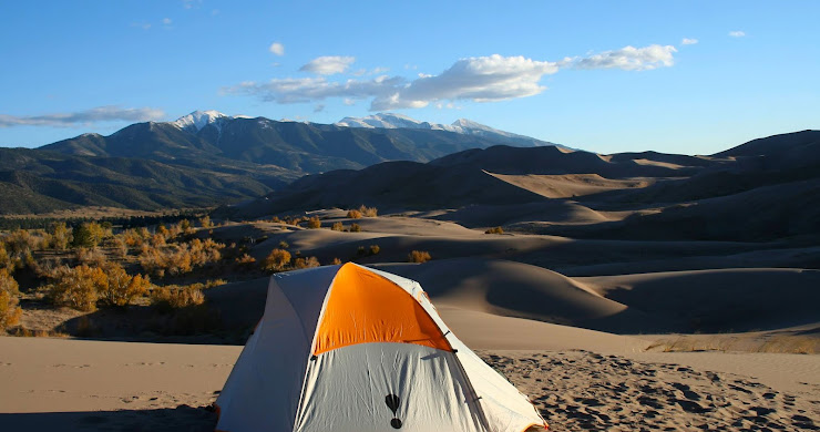Backpacking Great Sand Dunes National Park: Pitching a tent in Colorado's sandbox