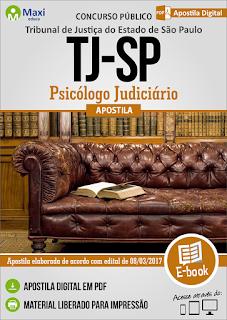 Apostila Tribunal de Justiça-SP (TJ/SP) Psicólogo Judiciário 2017