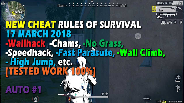 Cheat Rules of Survival Serin 3.0 Update 17 maret 2018 !