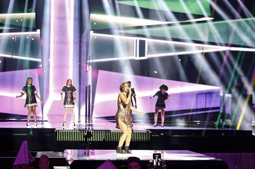 Barei realiza primer ensayo en el escenario de Eurovisión -1