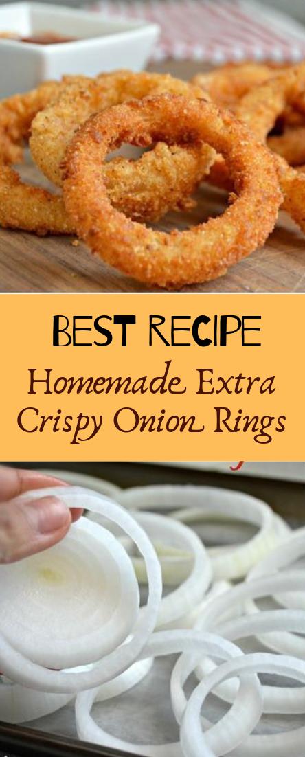 Homemade Extra Crispy Onion Rings #healthyfood #dietketo