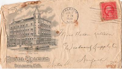 Envelope to letter from Herb to Helen Jan 1926 https://jollettetc.blogspot.com