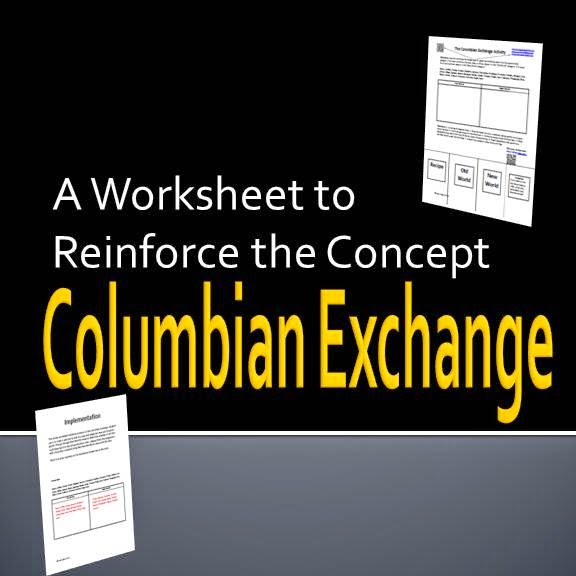 A Worksheet to Reinforce the Concept of the Columbian Exchange