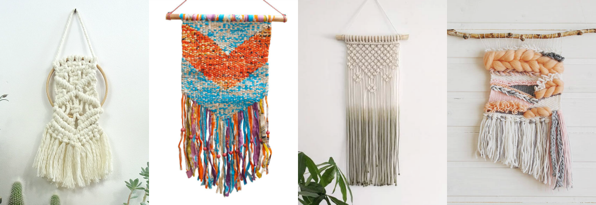 handmade and budget friendly weavings and macrame