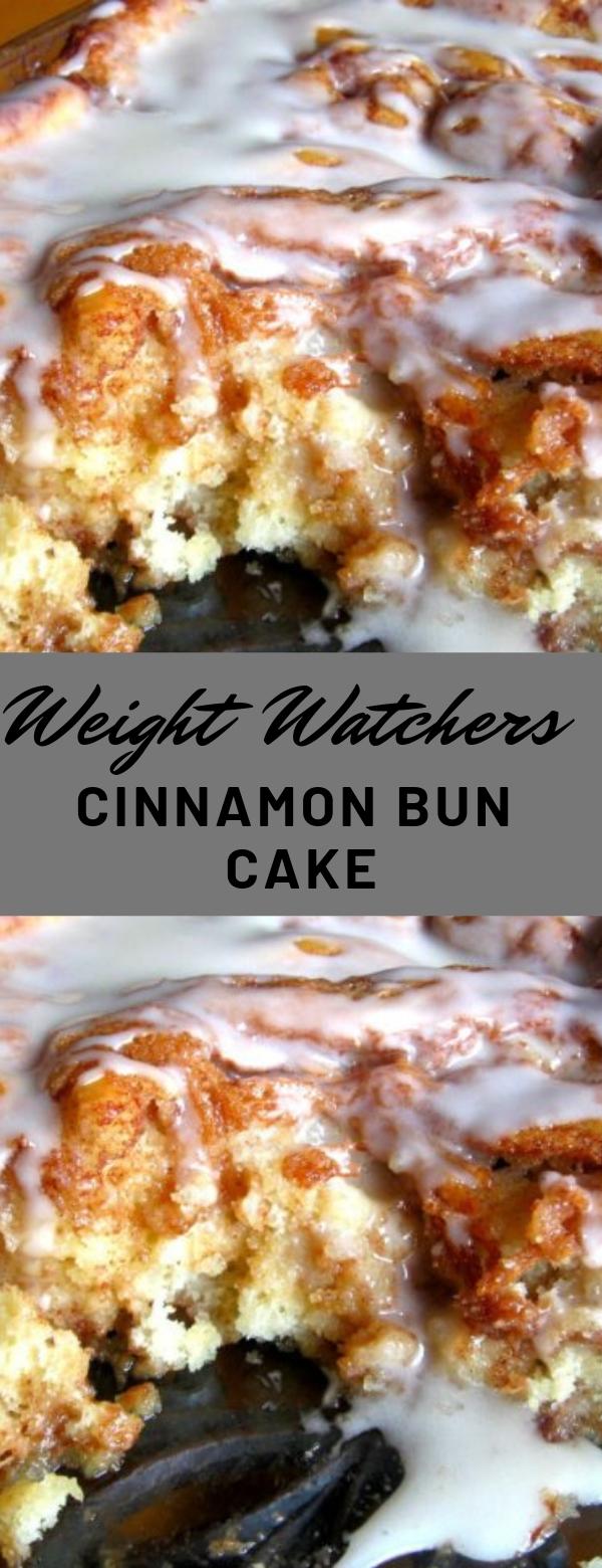 Weight Watchers Cinnamon Bun Cake #dessert #weightwatchers #cake